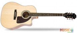 Epiphone AJ-220SCE Solid Top Ac/Electric Natural